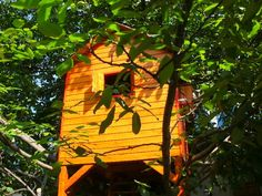 "The ""Rhea"" tree playhouse One Tree, Play Houses, Outdoor Furniture, Outdoor Decor, Bird, Home Decor, Decoration Home, Room Decor, Birds"