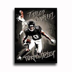 Atlanta Falcons Taylor Gabriel Turbo Taylor 24x18 Football Poster
