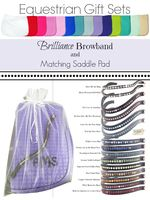 """Equestrian Gift Set Saddle Pad and """"Brilliance"""" Browband"""