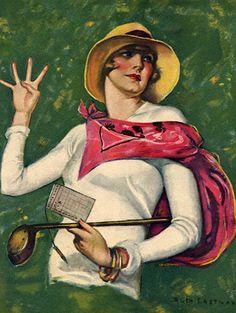 Vintage postcards love her holding her four fingers up.