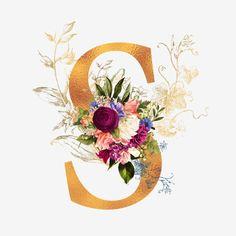 Spring Nail Colors, Spring Nails, Alphabet Wallpaper, Monogram Wallpaper, Alphabet Art, Deco Floral, Floral Letters, Sale Banner, Pretty Wallpapers