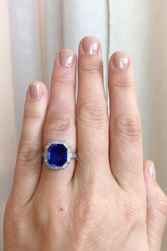 Pretty Engagement Rings, Platinum Engagement Rings, Antique Engagement Rings, Vintage Sapphire Engagement Rings, Vintage Diamond Rings, Sapphire Jewelry, Blue Sapphire Rings, Ceylon Sapphire Ring, Sapphire Solitaire Ring