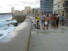 Fishing from the Malecon in Havana Cuba