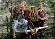 Fedot Sychkov - Playmates. Children. 1916