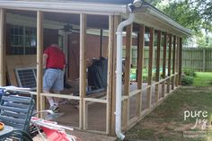 Building a screened in porch can be an easy and fun project books diy screened patio solutioingenieria Image collections