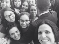 Lana Parrilla meeting fans.