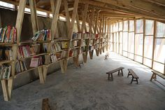 olivier ottevaere and john lin build the pinch library in an earthquake-devastated village
