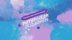 Watercolor Slideshow  • After Effects Template • See it in action ➝…