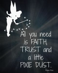 Fairy princess vinyl wall decal all you need is faith for Good look faith trust and pixie dust wall decal