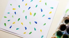 DIY watercolor or watercolour wrapping paper