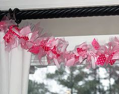 Pink party ideas/inspiration: ribbon garland feature www.partyfrosting.com