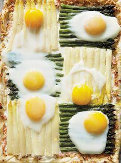 Ricardo's recipes : Quilt Pie with Asparagus, Eggs and Ham