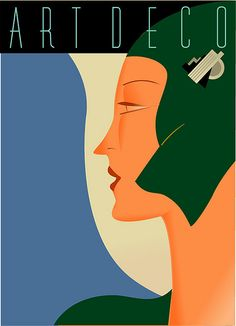 Art Deco poster illustration by Richard Weiss