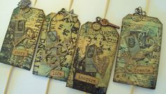 Tim Holtz Cupcake Toppers by lishmo123, via Flickr