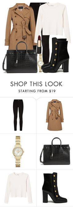 """Untitled #4823"" by beatrizvilar on Polyvore featuring Paige Denim, J.Crew, Kate Spade, Yves Saint Laurent, Monki, Mulberry and Mimco"