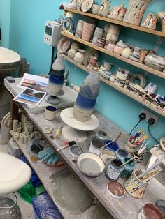 Lamp Bases, Ceramics, Glass, Painting, Color, Ceramica, Pottery, Drinkware, Corning Glass