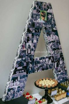 Candle idea for 50th birthday party decorations See more