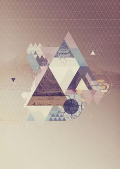 Collage Polygon Triangle iPhone 5 Wallpaper