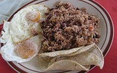 Traditional Costa Rican Beans & Rice - Gallo Pinto Recipe, ,
