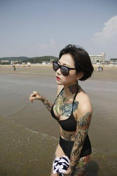 48 Ideas Tattoo Girl Asian Inked Babes For 2019 Asian Tattoos, Hot Tattoos, Body Art Tattoos, Girl Tattoos, Tattoo Ink, Arm Tattoo, Tattoo Blog, Tattoed Women, Tattoed Girls