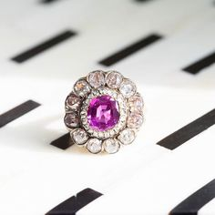 What's not to love about this pretty pink Victorian unheated Burmese sapphire…
