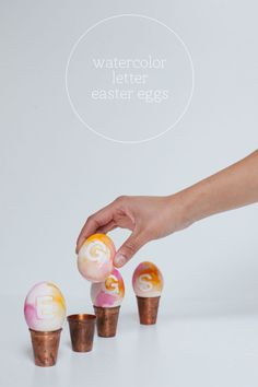 Watercolor Letter Easter Eggs DIY | Oh Happy Day!