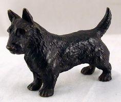 "Cold painted Scottish Terrier dog Vienna Bronze. c. 1900.    Size: 1 12"" H x 2 1/4"" L"