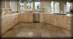 kitchem tiles   distressed exotic bamboo cork luxury tile tile flooring kitchen ...