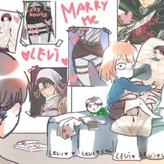 i know this is supposed to be petra and levi but... petra kind of looks like me... if i had he money for all this stuff... : '(