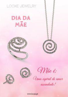 No Dia da Mãe, deixe-nos ajudar a celebrar com um presente especial. As jóias Looxe são uma lembrança diária do seu amor eterno! Mãe é uma espiral de amor ascendente! // On the Mother´s Day, let us help to celebrate with a special present.  The jewels Looxe are a daily memory of his eternal love!  Mother is a spiral of rising love! // ANL5029B / TRL5029B / COL5029B #looxe #looxejewelry #ouro #anel #torninhos #mulheres #moda #anellooxe #mae #diadamae…