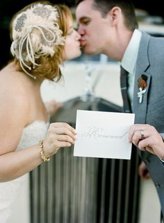 I know this isn't what the picture actually is, or what the link is, but it made me think of another vow renewal idea for mom. Holding a wedding picture instead of... whatever they are holding in this picture lol