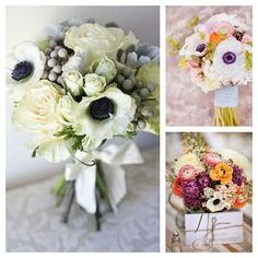 Today's Fancy Flower feature on the blog today are anemones. So elegant and versatile. #wedding #flowers