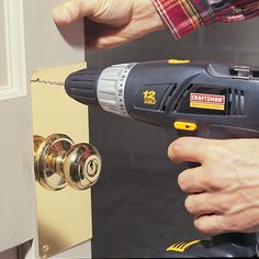 This story walks you through the how to steps to install a doorknob reinforcer on your exterior doors. It's a simple, inexpensive project that makes your entry door more secure and less vulnerable to break-ins. Home Security Tips, Safety And Security, Home Security Systems, Personal Security, Security Door, Smart Door Locks, Home Protection, Home Defense, Home Safety