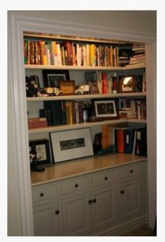 68 trendy open closet ideas for small spaces built ins cabinets Closet Library, Closet Desk, Closet Office, Closet Bedroom, Hallway Closet, Playroom Closet, Kids Bedroom, Small Closet Space, Small Spaces