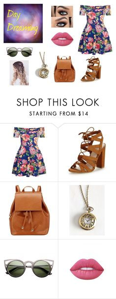 """""""Day Dreaming"""" by mara-barrile ❤ liked on Polyvore featuring New Look, Lipsy, Barneys New York and Lime Crime"""