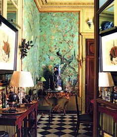 """Chinoiserie: Pierre Bergé recalls that Yves Saint Laurent """"preferred to travel in his imagination,"""" a journey undoubtedly made easier when surrounded by the finest of East meets West in Bergé's Rue Bonaparte residence."""