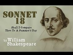 ▶ William Shakespeare - Sonnet 18 - Shall I Compare Thee To A Summer's Day - YouTube