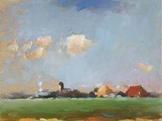Landschappen Olie, Gouache, Paintings, Landscape, Art, Paint, Painting Art, Draw, Painting