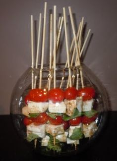 Caprese Salad Swords