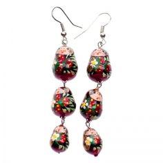 Handmade Dangling Matryoshka Earrings