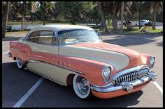 1953 Buick-Out of the George Barris Collection   - Known as Peaches and Cream   - Frame-Off Restoration   - National Award Winning Automobile   - Custom Shaved hood and Doors   -Leather Interior