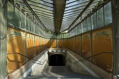 The Most Beautiful Metro Stations in Paris | WhyGo Paris                                               Porte Dauphine Station on Metro Line 2     The other surviving Guimard-designed art nouveau station in addition to Abbesses is Porte Dauphine, and this one's even older. It was inaugurated in 1900, as opposed to Abbesses' birthdate of 1912.