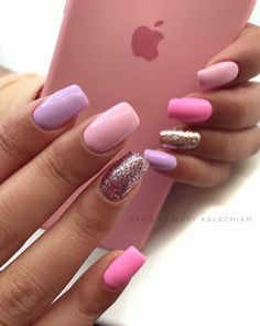Want some ideas for wedding nail polish designs? This article is a collection of our favorite nail polish designs for your special day. Stylish Nails, Trendy Nails, Cute Nails, Neon Nails, Pink Nails, Matte Pink, Blush Pink, Gorgeous Nails, Perfect Nails