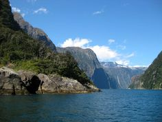 Milford Sound, New Zealand. Almost came here!! So bummed that the people I was with on my trip didn't want to go :(