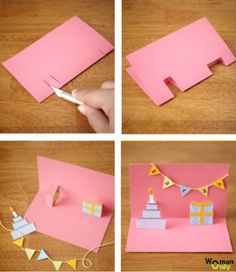 Cards made and sketched with your own hands holds a different aura of charm and elegance. Here are few amazing DIY birthday cards to inspire you well. Creative Birthday Cards, Simple Birthday Cards, Homemade Birthday Cards, Bday Cards, Birthday Diy, Happy Birthday Cards, Homemade Cards, Birthday Ideas, Birthday Gifts
