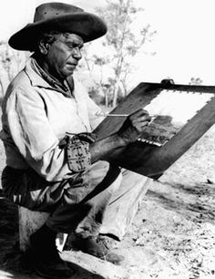 Aboriginal artist Albert Namatjira. His watercolour of Australian outback landscapes were of the Hermannsburg School, a predominantly western style which departed from the highly symbolic style of traditional Aboriginal art. In 1957 he was the first Northern Territory Aboriginal to be freed from ward of the State status and the first Aboriginal to be granted Australian citizenship which entitled him to vote. He was the first named Aboriginal person to be honoured on an Australian postage…