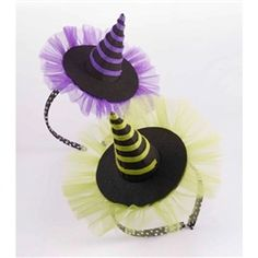 Mud Pie Trick or Treat Witch Hat Big Girl Headband-GREEN-350071