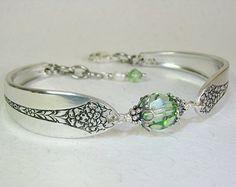 Silver Spoon Bracelet Rosalind 1938 with by SpoonfestJewelry