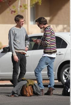arthur darvill, matt smith. I...just...can't. matthew robert smith, why is your jumper inside-out? And why are u wearing the doctors boots?