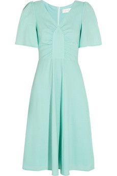 Goat Rosemary ruched wool-crepe dress | THE OUTNET